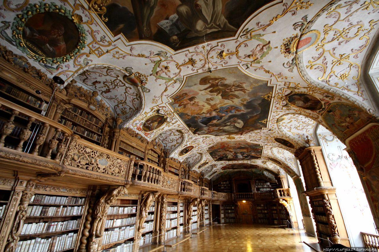 Библиотечный зал монастыря Вальдзассен Вальдзассен, Германия