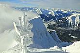 Панорама, открывается отсюда до Предальпья на более чем 400 альпийских вершин, расположенных на территории Австрии, Италии, Швейцарии и Германии. 2962 м