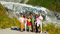 Наша группа у ледника Фокс