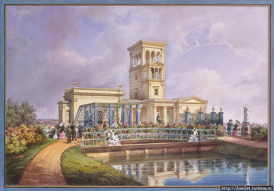 фото из Интернета, — так выглядел Розовый павильон в XIX  веке
