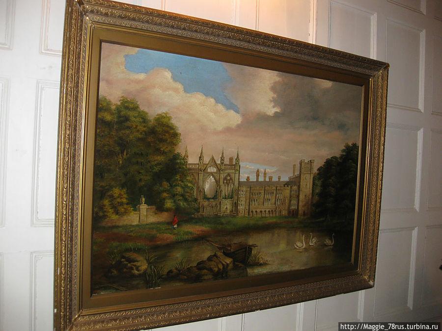 Так выглядело аббатство при первом лорде Байроне, сэре Джоне маленьком с большой бородой