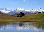 Озеро Wilcаcocha в горах Кордильера Негра