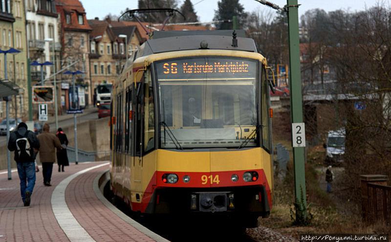 Из Пфорцхайма можно доехать до Карлсруэ на трамвае