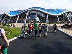 Первые посетители Приморского Океанариума