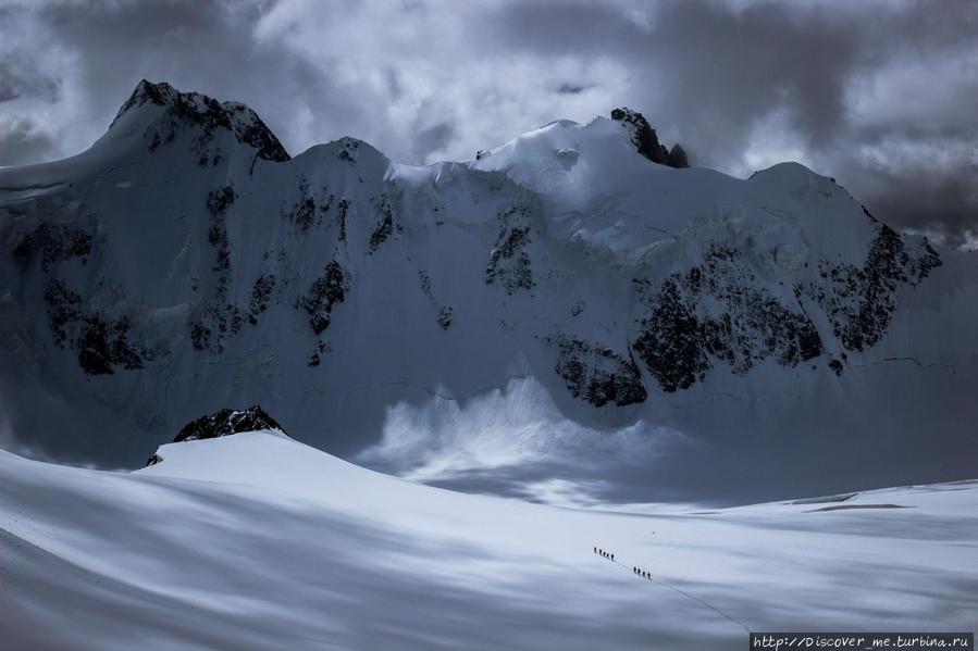 ледник Менсу Белуха гора (4509м) Природный Парк, Россия