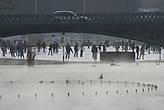 В парке Варошлигет с одной стороны моста — каток, а с другой — озеро, над которым поднимается пар, с тёплой водой и чайками (вода, действительно, тёплая — я пробовала). Эх, жаль, я коньки не взяла с собой!