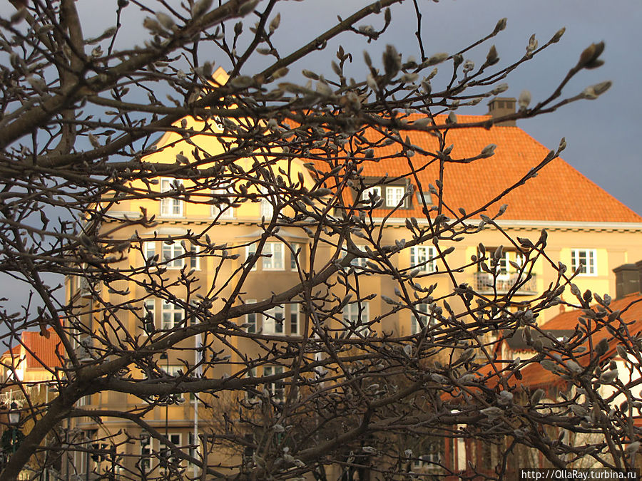 Вид из парка на Drottninggatan.