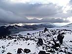 Лавово-снежные поля Эльбруса