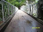 Прощальный взгляд на мост.Уже не на мосту и ещё не на тропе.