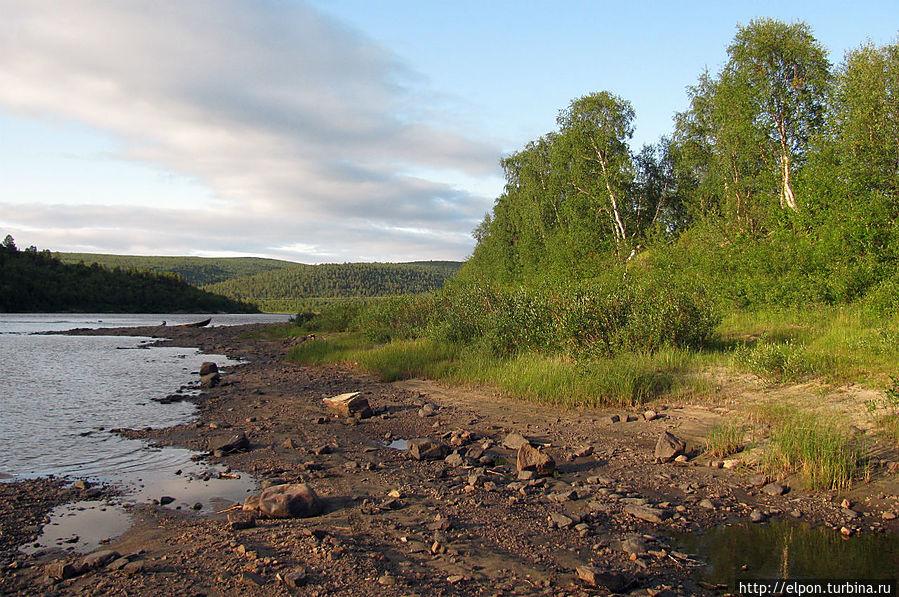 Река Тана с финской стороны