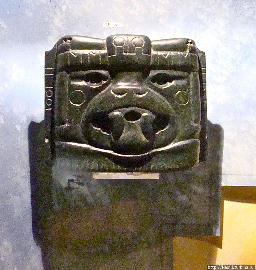 Михтеков или ацтеков живущих в Монте Негро считали  детьми богов. Эта маска кошачьего найдена там