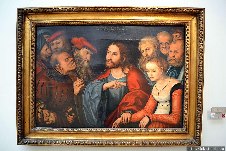 Лукас Кранах Старший. Христос и Блудница.