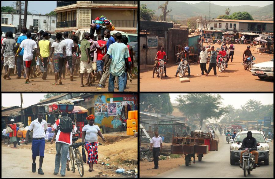 Черно-белые женщины Менде Северная провинция, Сьерра-Леоне
