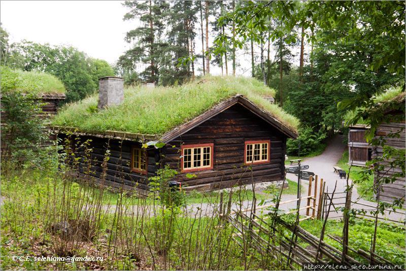 22. Где-то в глубине этого вида стоит симпатичный дом с ярко окрашенными окнами, что делает его нарядным.