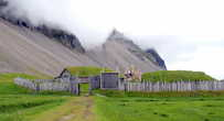 Городок викингов — остатки кинодекораций к голливудскому фильму Викинги