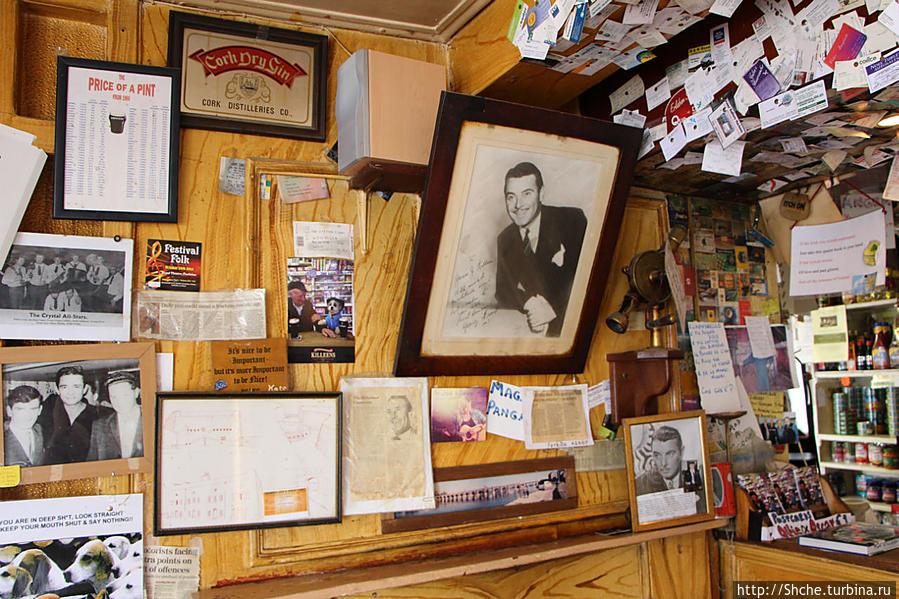 портрет известного ирландского актера Джоржа Брента, посещавшего это заведение
