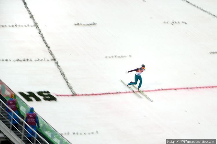 Прыгун с трамплина призем