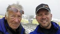 альпинисты Андрей Гундарев и Борис Коршунов на пике Ленина