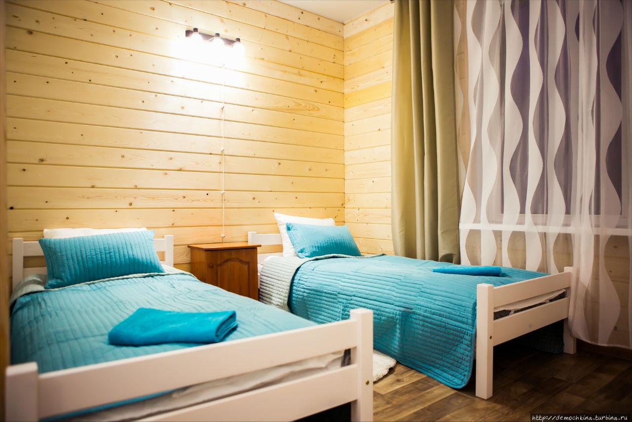 Номера отеля — сочитают в себе элементы скандинавского стиля и морского
