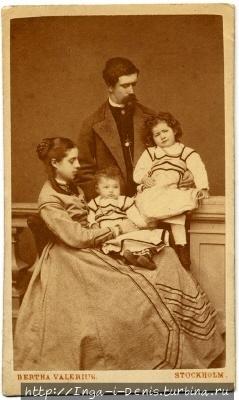 Вильгельмина и Вальтер фон Халльвиль с детьми (фото из интернета)
