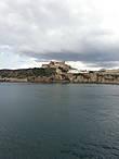 Вид на крепость с моря.