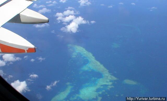 Летим над рифами Кораллов