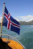 На всех кораблях всегда вывешивается национальный флаг страны. Это исландский флаг