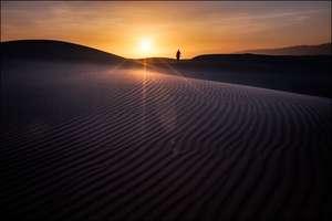 Закат в песчаных дюнах Heyf or Zahek