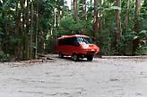 На таких машинах на остров привозят группы туристов