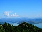 Вид на Скадарское озеро.
