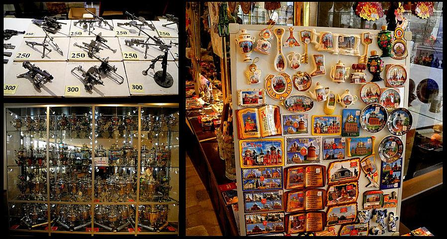 Сувениров разных там полно.
