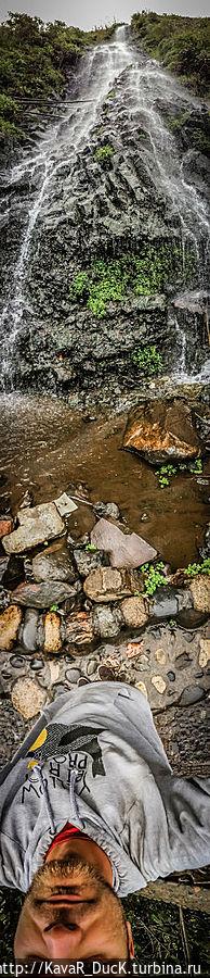 Водопад в городе Баньос