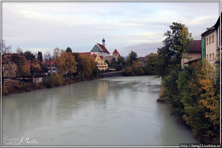 Фюссен – Баварский город в предгорье Альп Фюссен, Германия