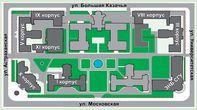 Серым цветом выделены корпуса Медицинского Университета (Из Интернета)