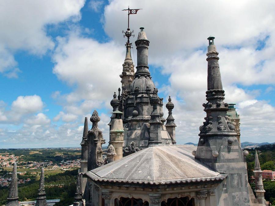 Вид на крышу дворца
