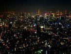 Токио  с высоты  450 м.