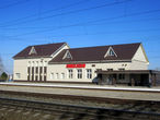 Здание железнодорожной станции.