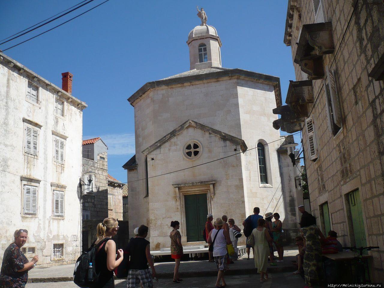 Храм Святого Юстина Корчула, остров Корчула, Хорватия