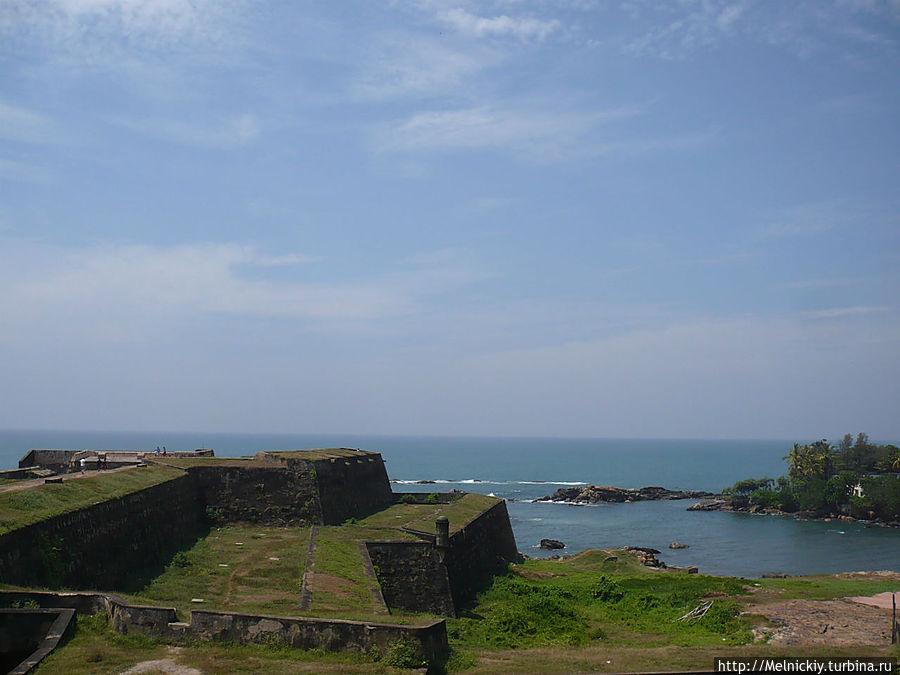 Старый форт на древней земле Галле, Шри-Ланка