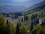 вид на Гизлу с перевала Арбэл