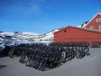 Армия велосипедов в ожидании поездов из Осло и Бергена.