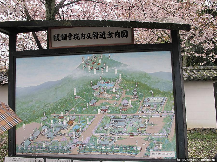 Примерный план храмового комплекса. Киото, Япония