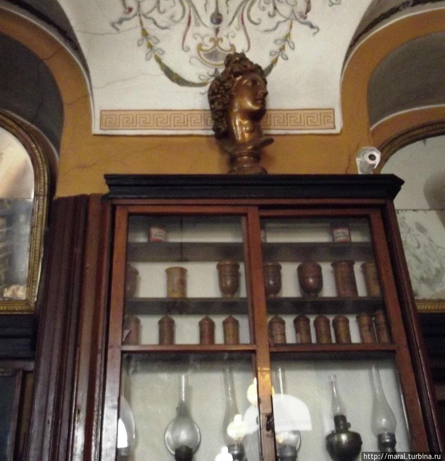 Модель первой керосиновой лампы хранится в львовской аптеке-музее возле площади Рынок