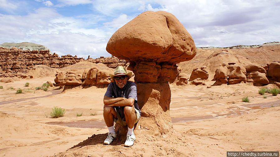Долина Гоблинов, Юта. Песчаник Энтрада не устойчивой глине того же возраста. Моаб, CША