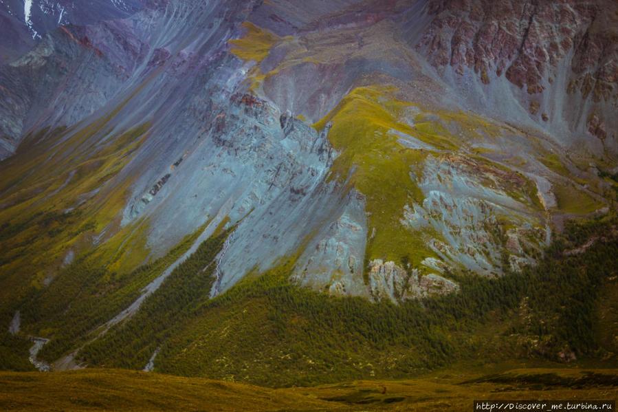 волшебные цвета долины Ярлу. Белуха гора (4509м) Природный Парк, Россия
