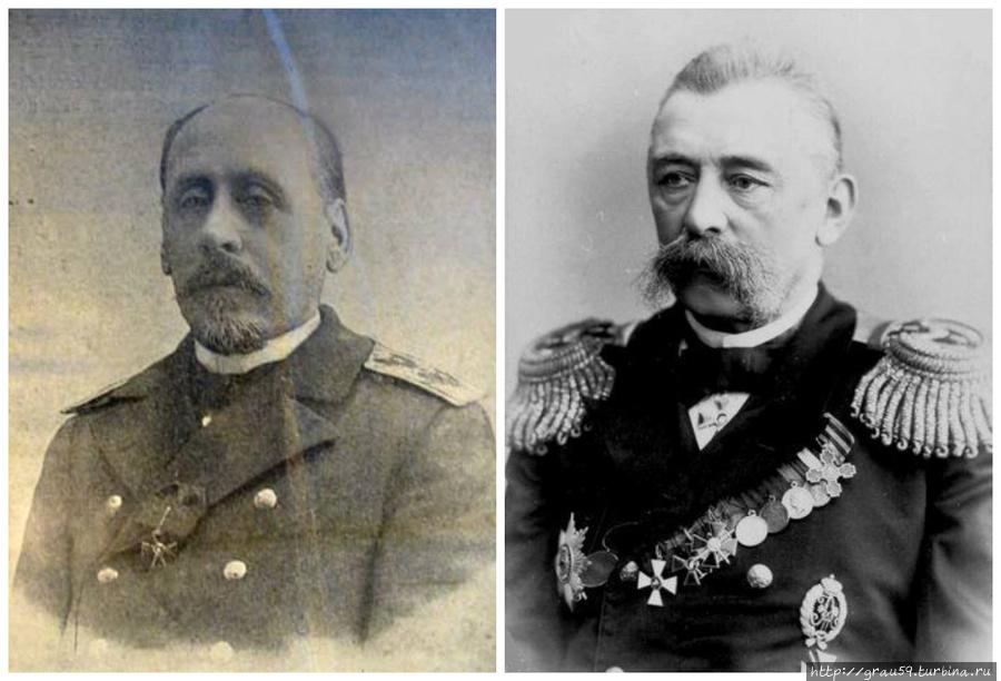 Адмиралы Г.П.Чухнин и В.П.Шмидт
