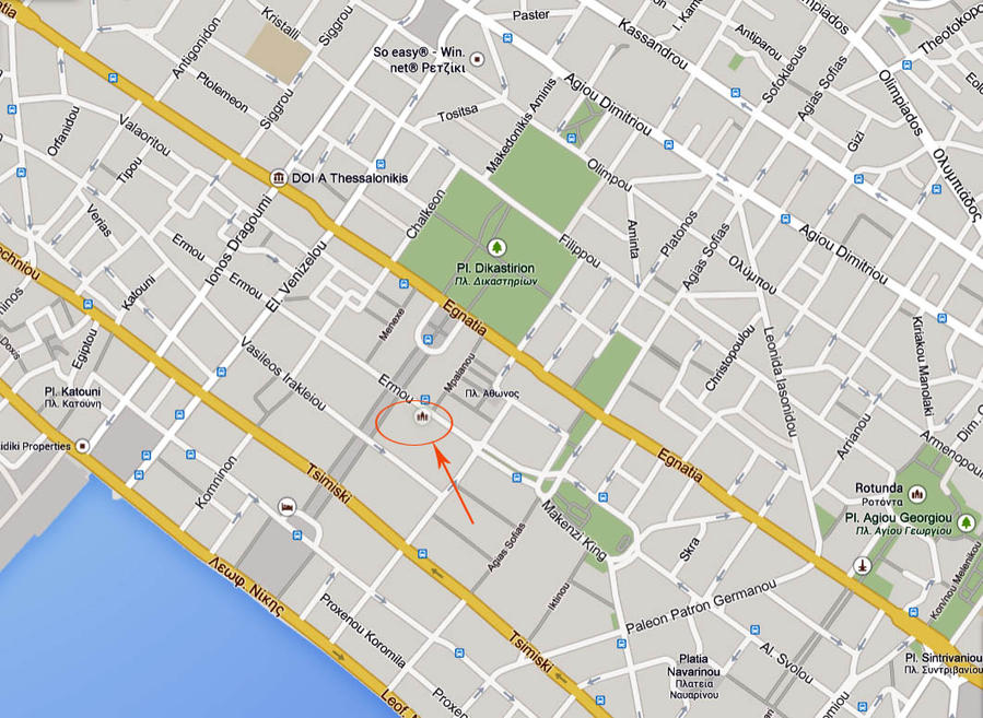 Отметить монастырь Св. Феодоры на карте мне пришлось самостоятельно