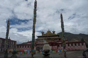 Отреставрированный Самье, первый буддистский монастырь в Тибете