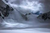 ледник Менсу, вид на ББС- Большое Берельское Седло