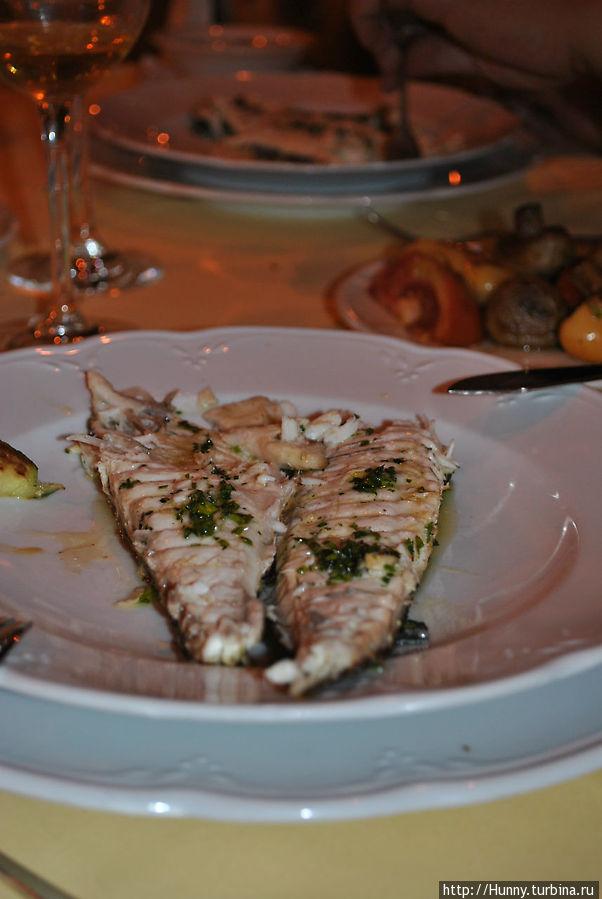 Вкуснейшая рыба, но съесть ее не хватило сил...